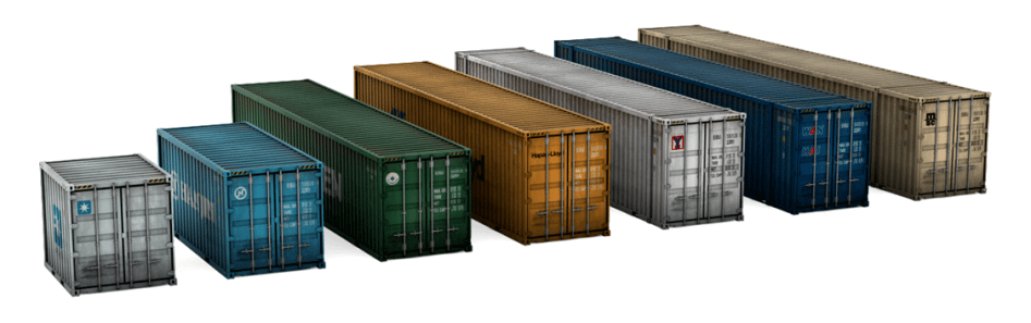different sized storage containers
