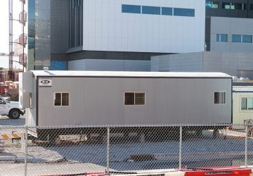 Office Trailer on Construction Site